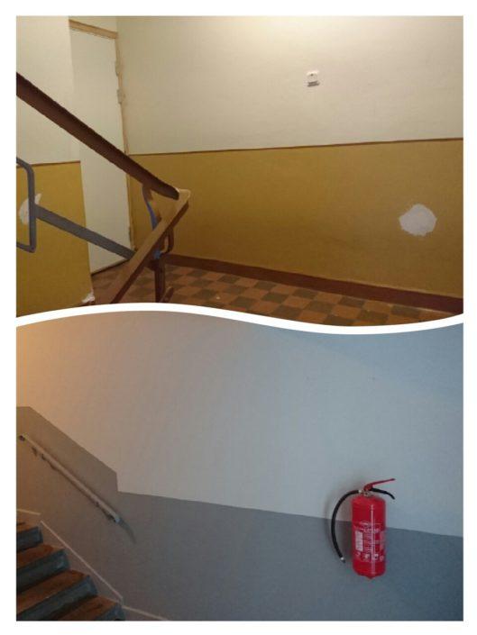 Målning trappuppgång Taberg