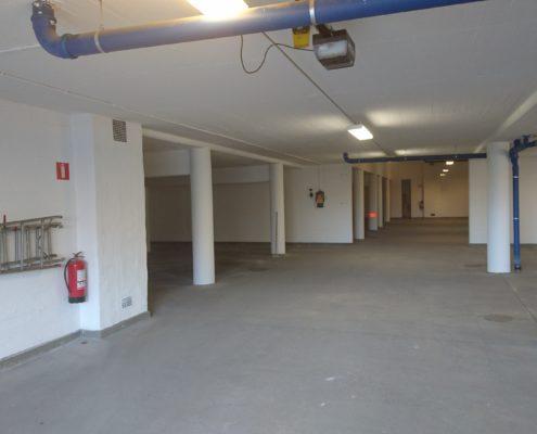 Bild 2 efter målning av garage för bostadsrättsförening i Huskvarna