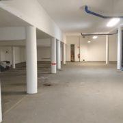 Bild efter målning av garage för bostadsrättsförening i Huskvarna