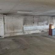 Bild före 3 målning av garage för bostadsrättsförening i Huskvarna