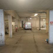 Bild före 2 målning av garage för bostadsrättsförening i Huskvarna