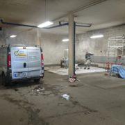 Målning av garage för bostadsrättsförening i Huskvarna