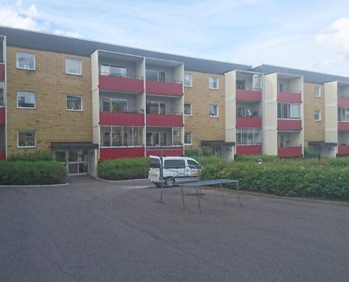 Målning av balkonger, entrétak etc bostadsrättsförening Jönköping 2017
