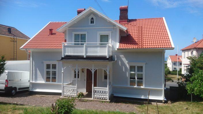 Bild 3 efter klart projekt . Målning av hus i Gränna, BRF