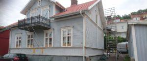 Bild 2 före projektet . Målning av hus i Gränna, BRF