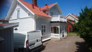 Målning av hus Gränna