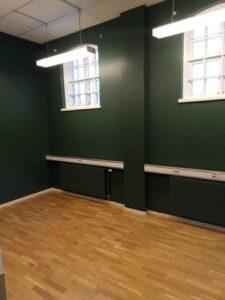Efterbild målning kreativt rum kontor Digtory