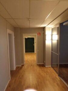 Efterbild målning av hall, kontor, kök och kreativt rum Digtory