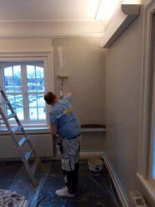 Målning av kontor och arbetsrum övervåning - Digtory